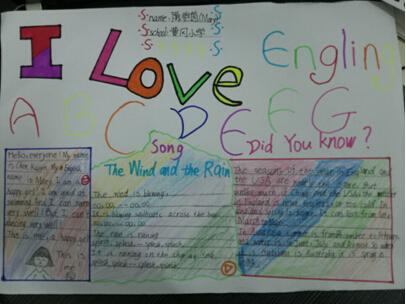 英语活动月(四):举行英文字母设计,手抄报比赛